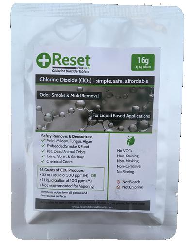 Reset CLO2 Green Pak 16 grams